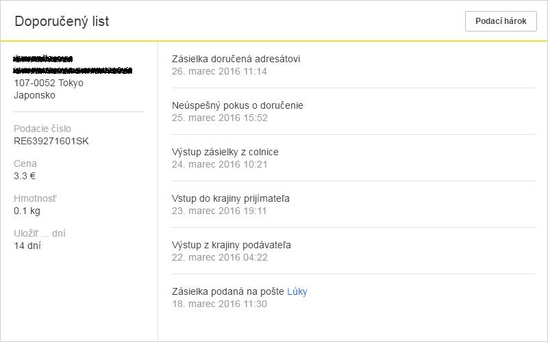 ebay posielanie zboží
